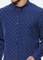 Lee Desenli Uzun Kollu Gömlek İndigo